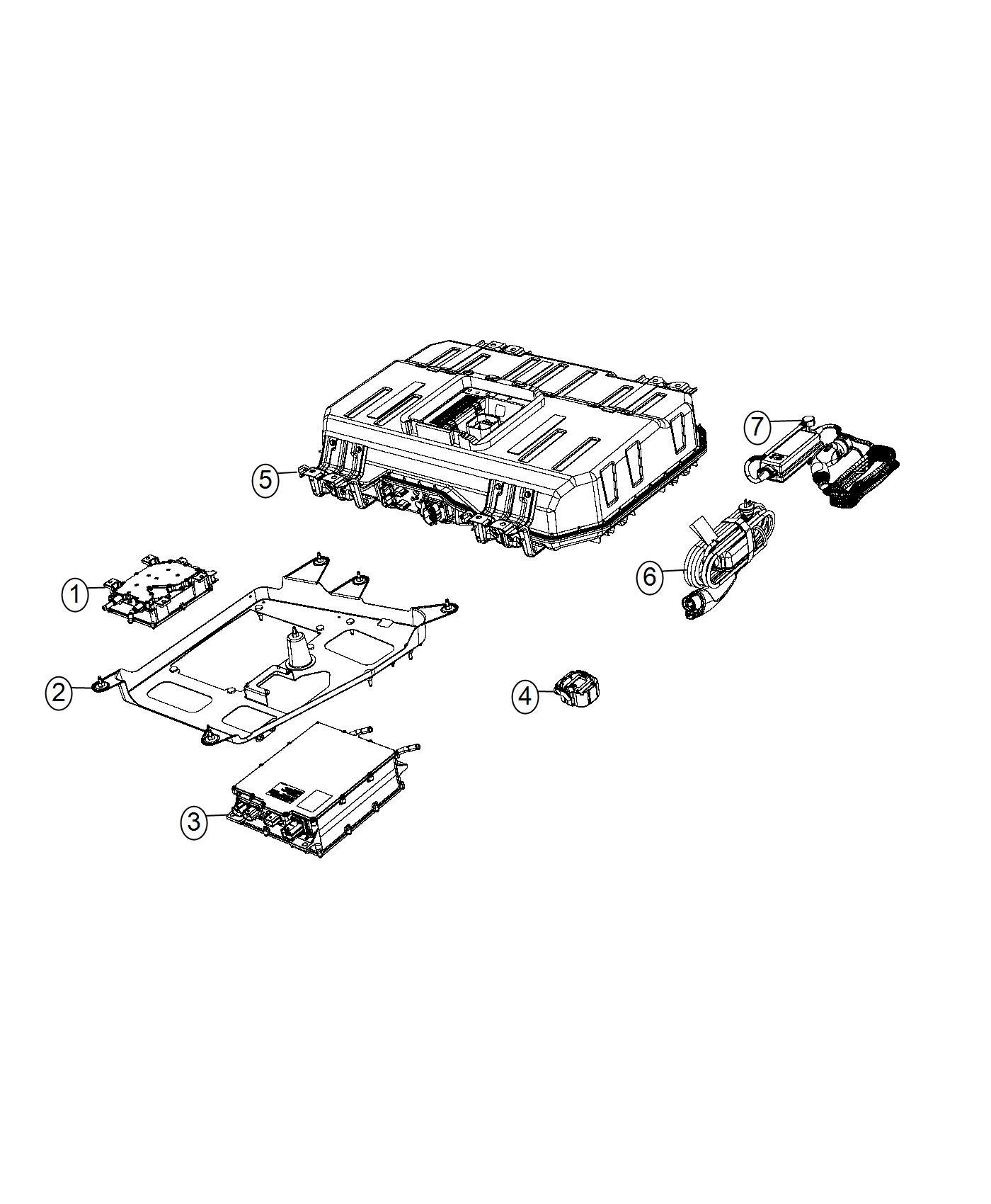 2017 chrysler pacifica battery kit  hybrid   phev adaptation components