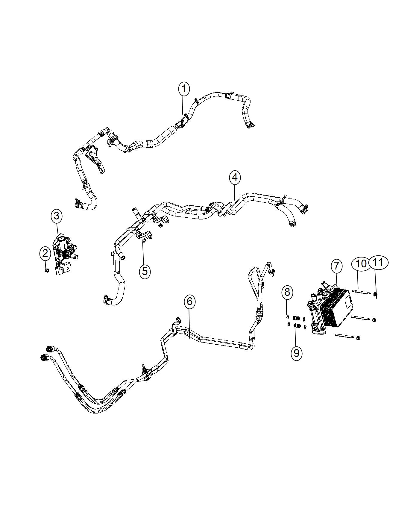 2013 Dodge Ram 1500 Hose And Tube  Oil Cooler Pressure And