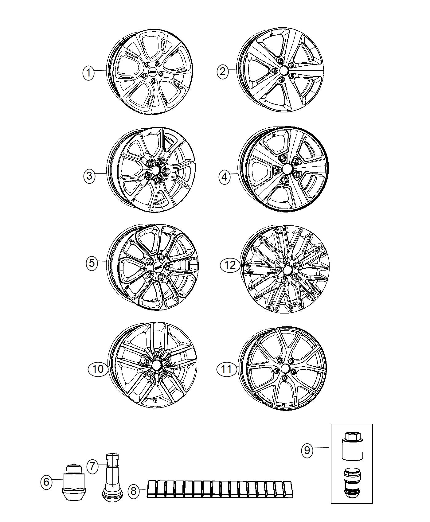 2017 Jeep Grand Cherokee Wheel  Aluminum  Front Or Rear
