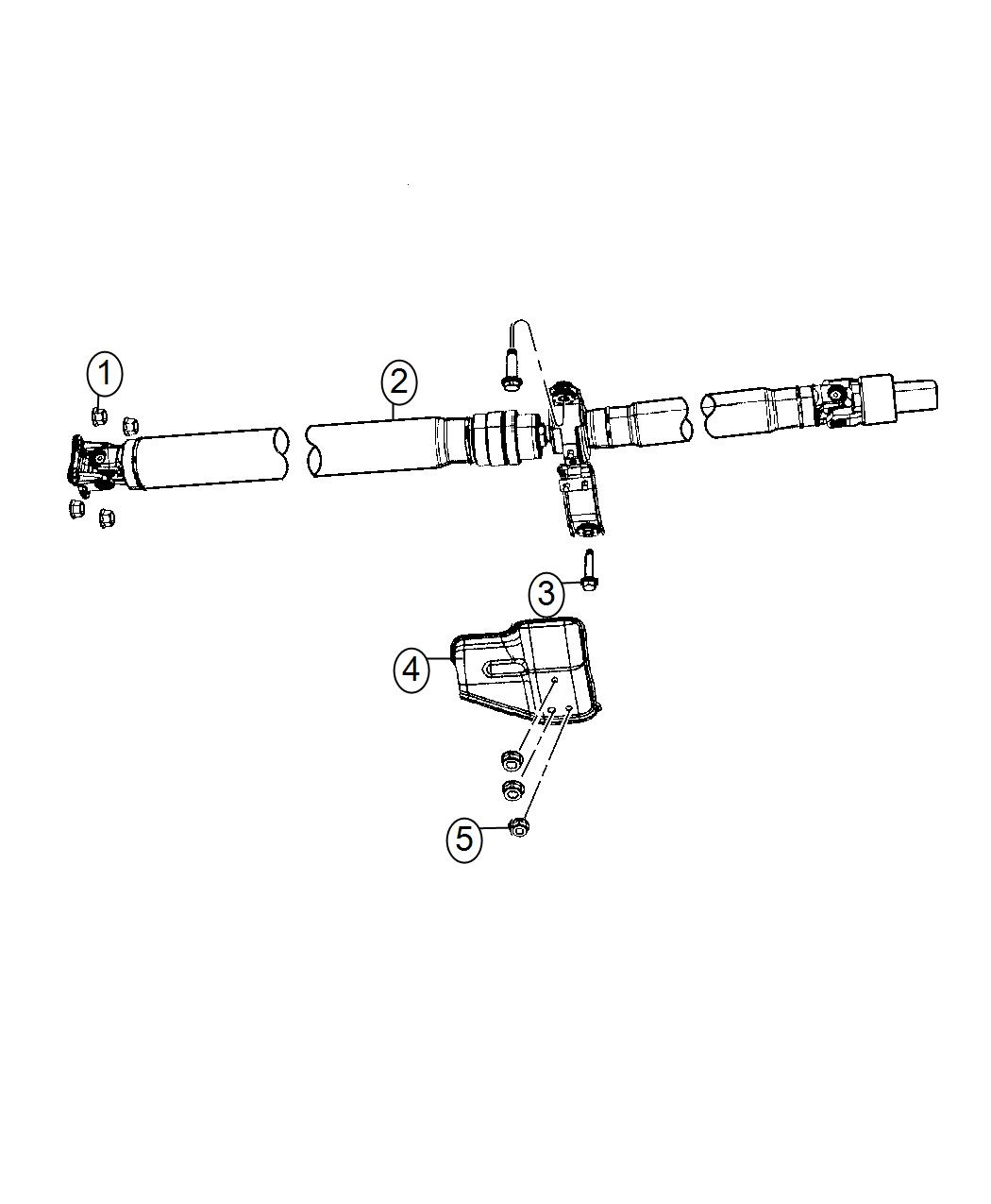 2017 Jeep Compass Shaft  Drive  Rear