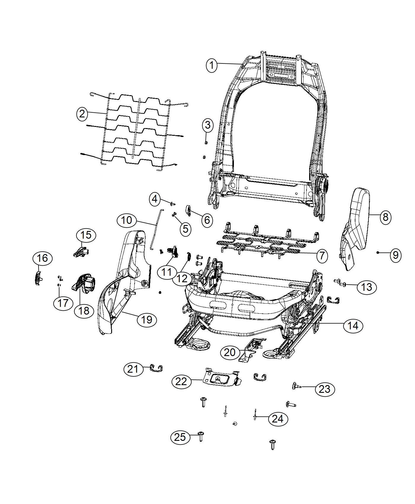 2017 Jeep Renegade Shield  Front Seat  Trim   No Description Available  Color