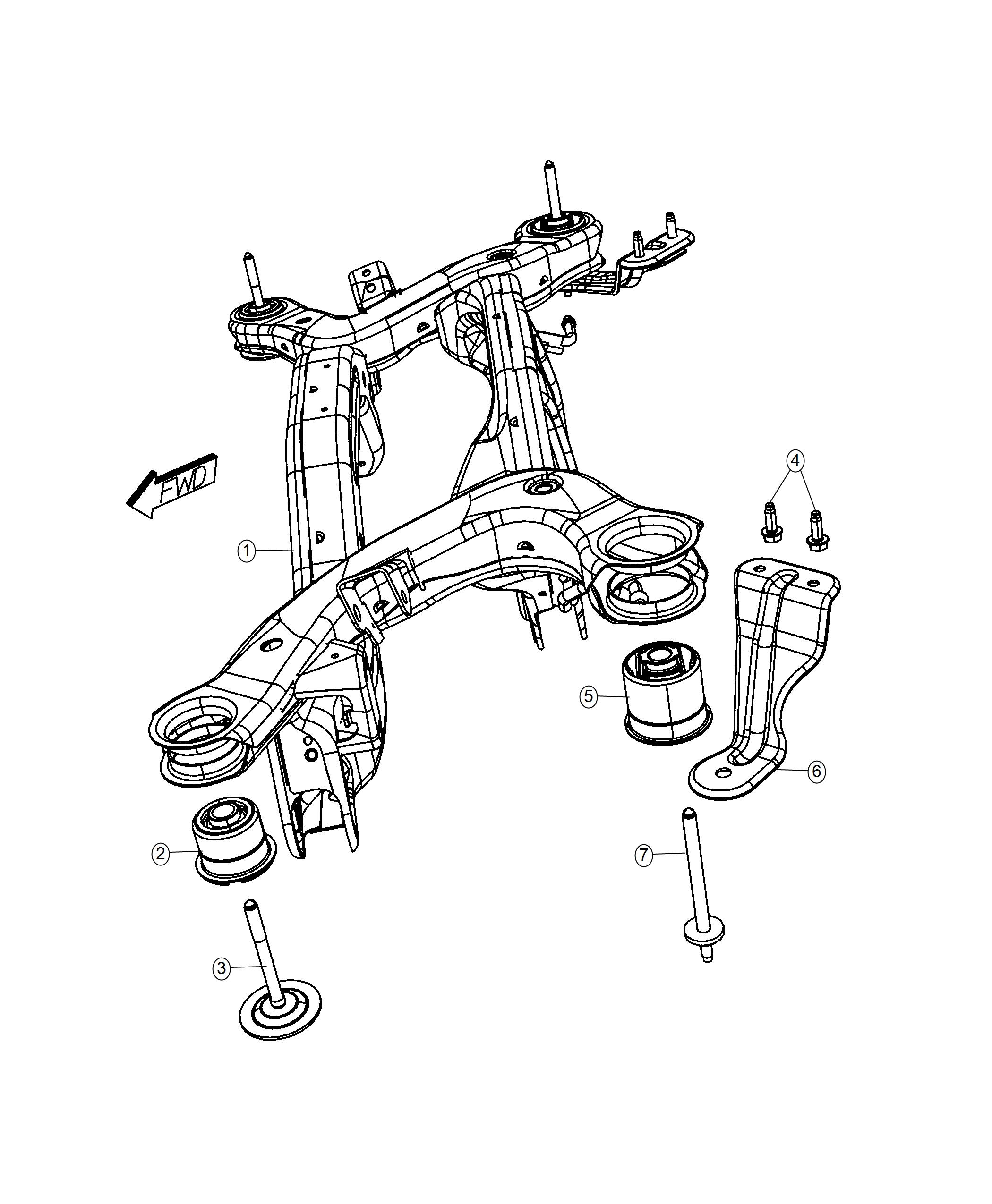 2013 dodge journey crossmember  rear suspension  after 12  14  2015