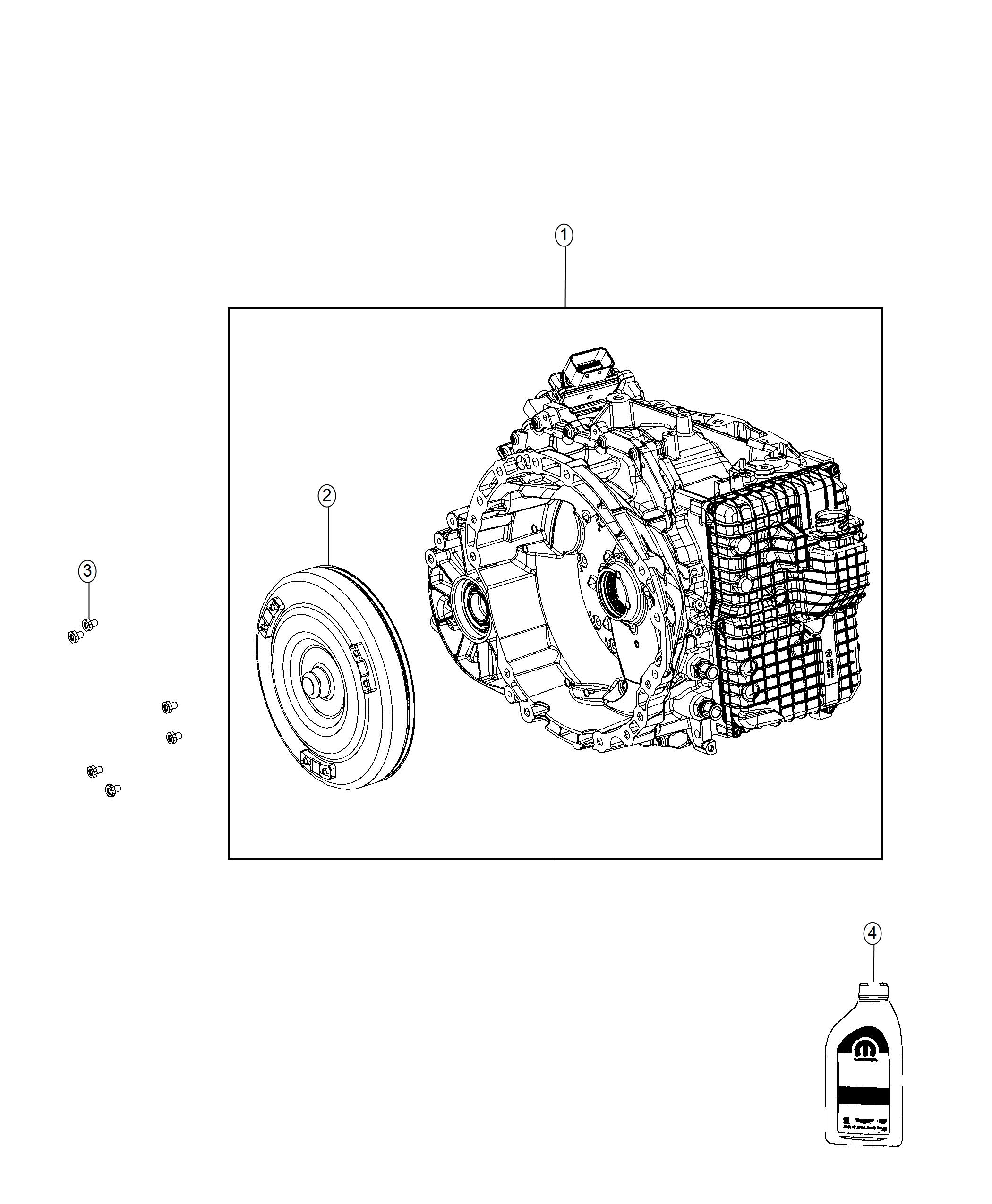2018 Jeep Compass Transmission Kit  With Torque Converter