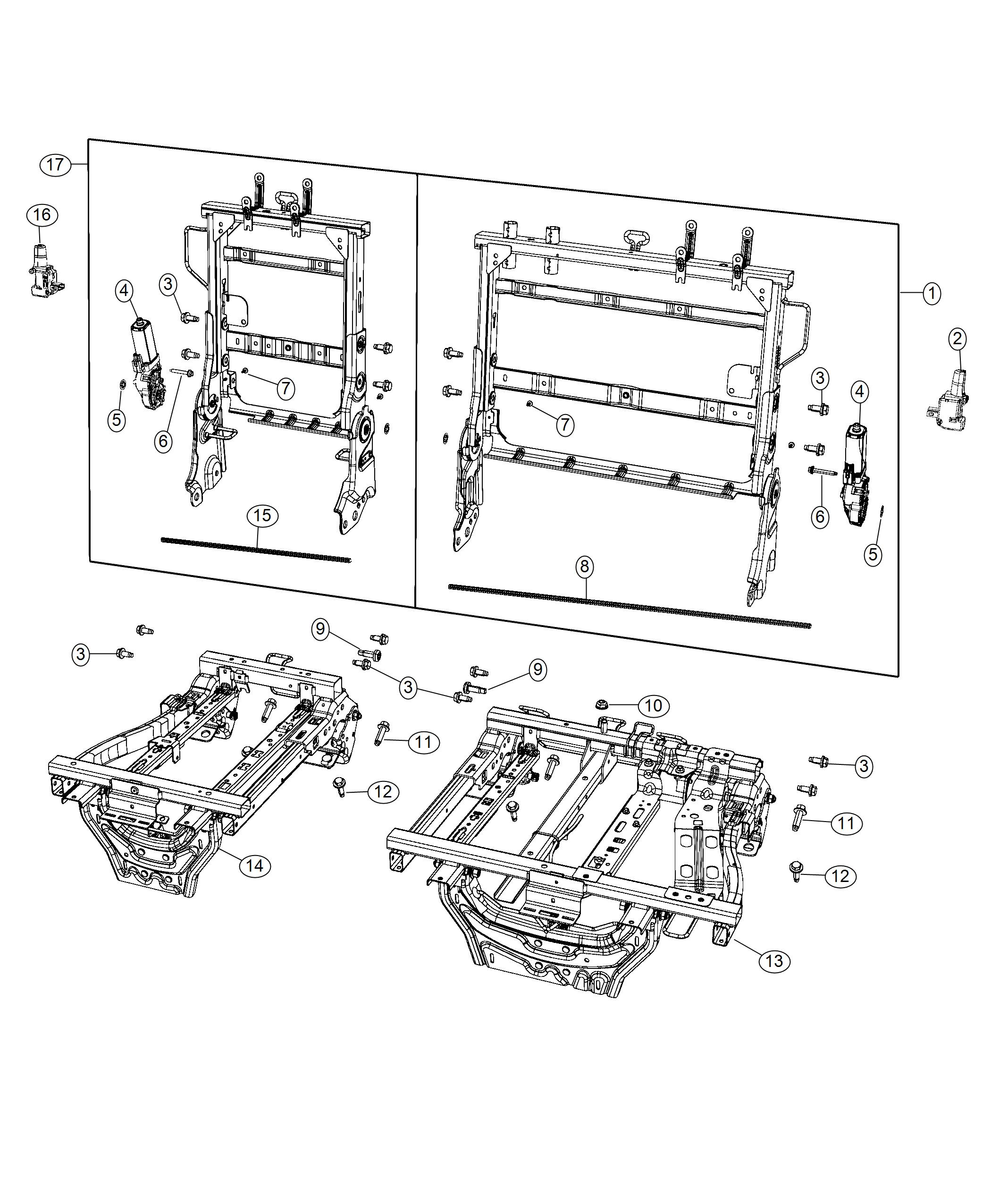 2019 Chrysler Pacifica Solenoid Module. Auto Headrest Dump