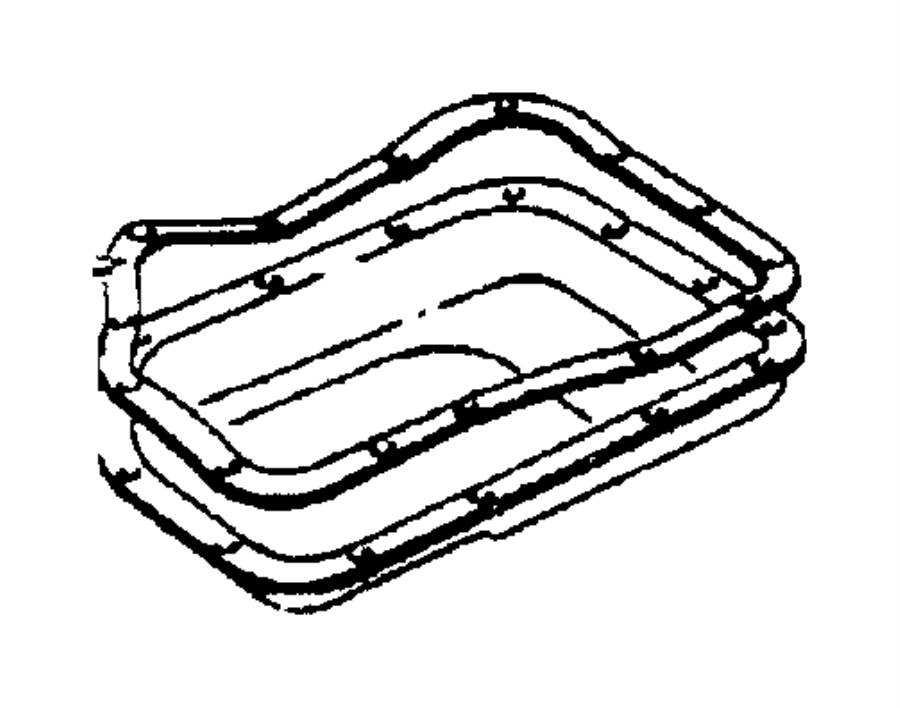04295875AC Chrysler Gasket Oil pan Bnd Factory
