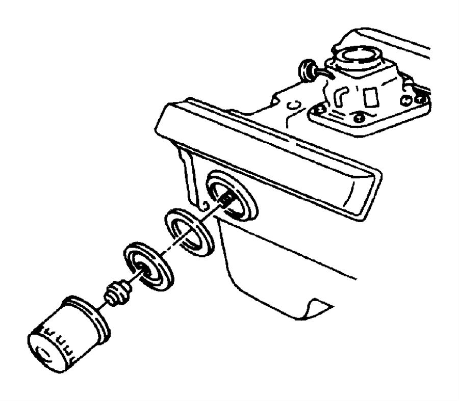 dodge ram 1500 gasket  oil filter adapter  gasket  oil