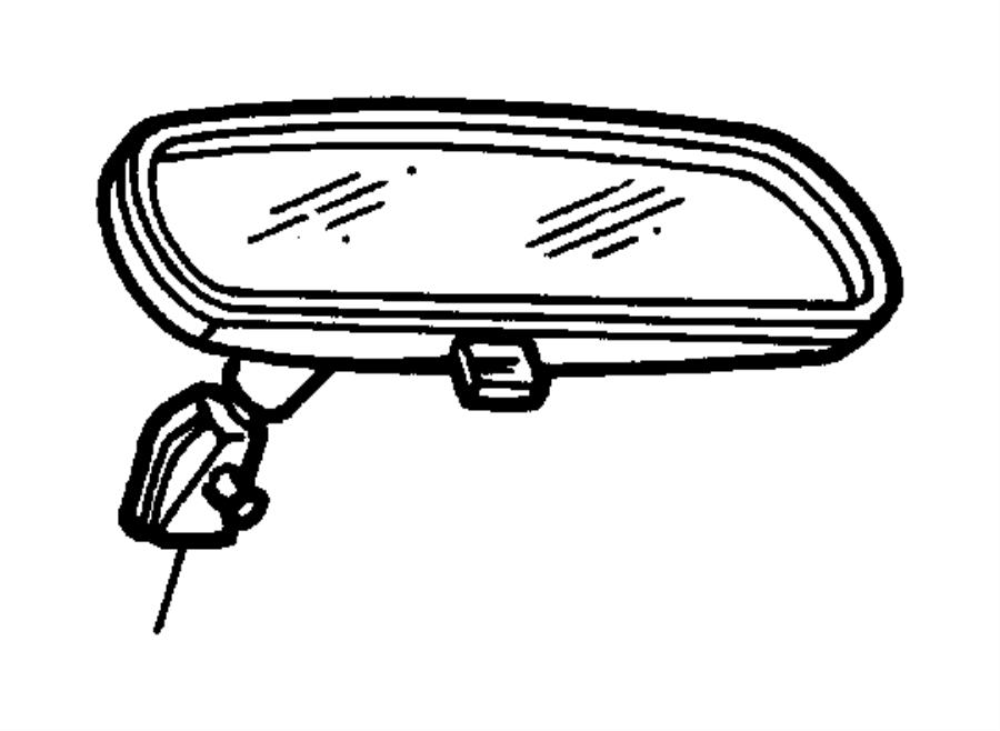 2007 dodge caliber mirror  inside rear view  prismatic