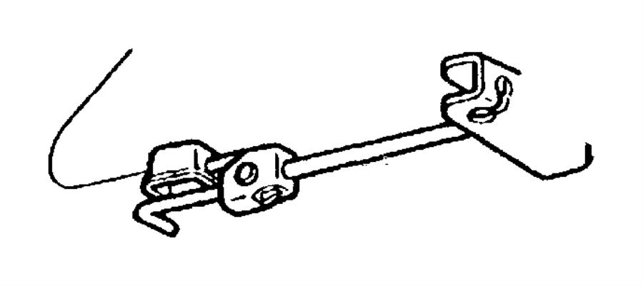 Dodge Dakota Tensioner Parking Brake Cable Tentioner