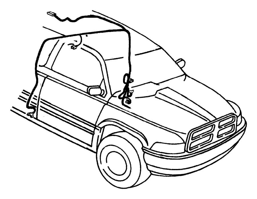 1998 Dodge Ram 1500 Wiring  Overhead Console  Wroof  Wtemp