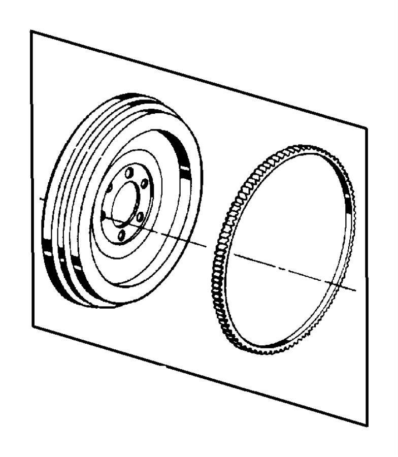 MOPAR Seal, Seal Package. Crankshaft, Rear