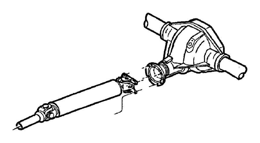 2004 dodge ram 2500 flange  drive shaft  driveshaft yoke