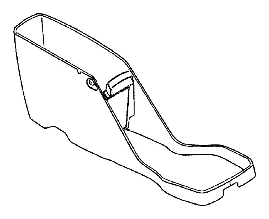 dodge dakota button  console  armrest latch  base  trim