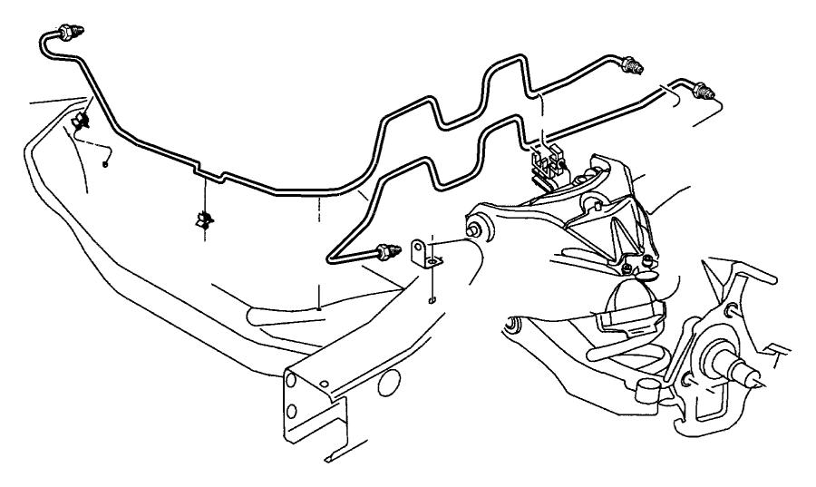 2000 Jeep Wrangler Clip  Brake Attaching Tube  Brake Line