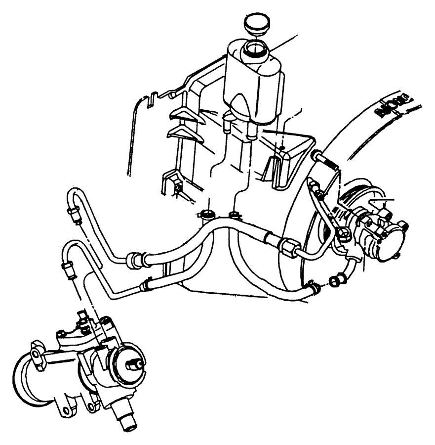 jeep wrangler hose  power steering reservoir  return