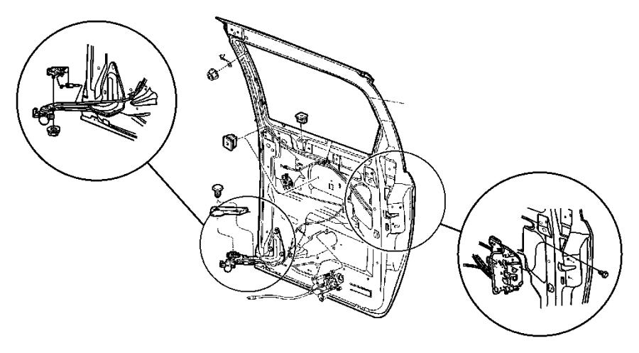 Caravan Power Sliding Door Motor On Sliding Door Wiring Harness
