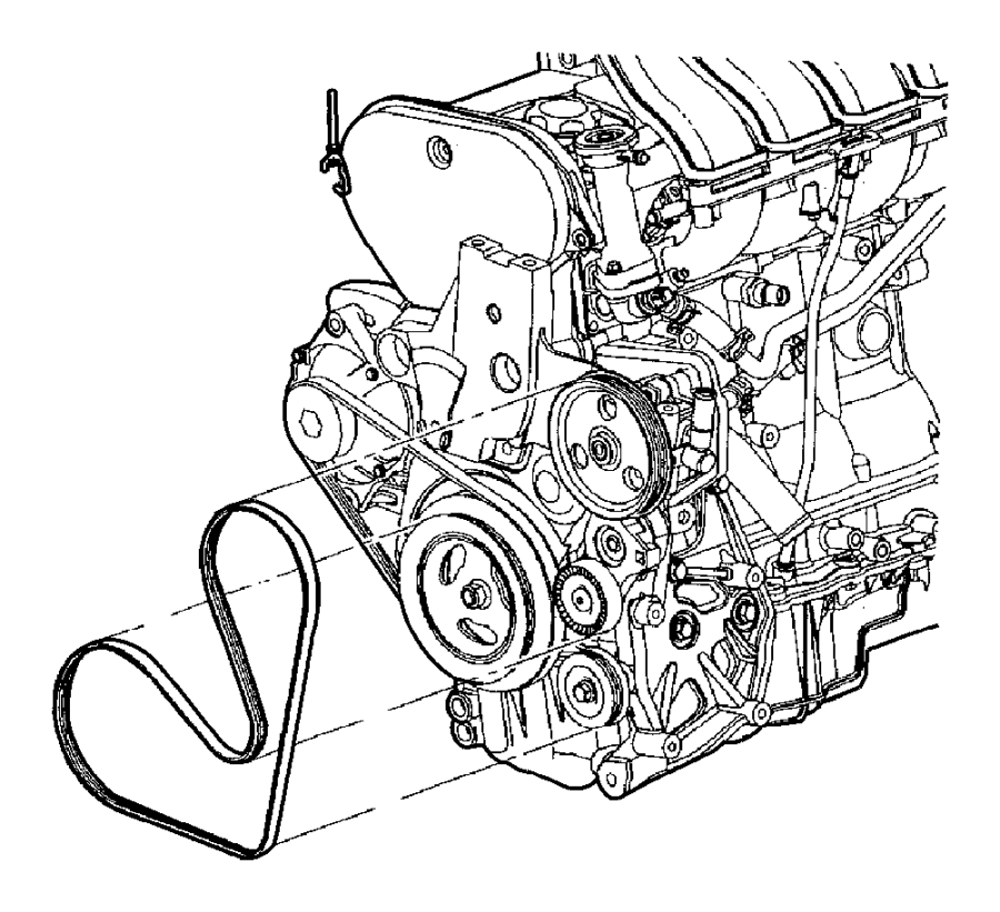 dodge neon belt accessory drive without air conditioning dodge nitro 3.7 engine diagram