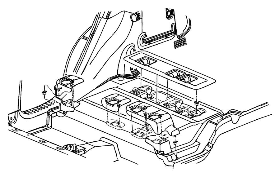 chrysler pt cruiser bezel  seat pivot  center   fl   taupe  trim   all trim codes  color