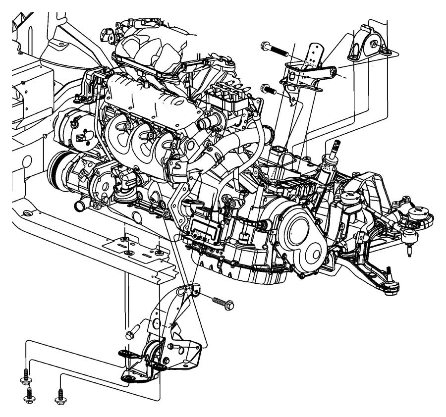 2007 Dodge Grand Caravan Support Rear Transmission Manual Guide