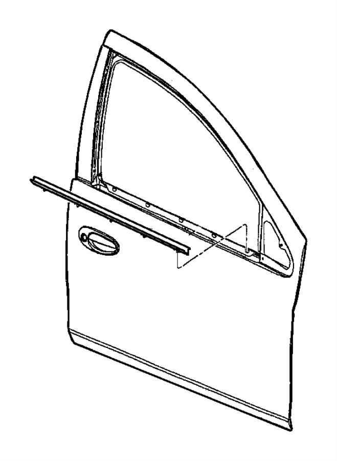2004 Dodge Neon Weatherstrip  Right  Front Door Belt