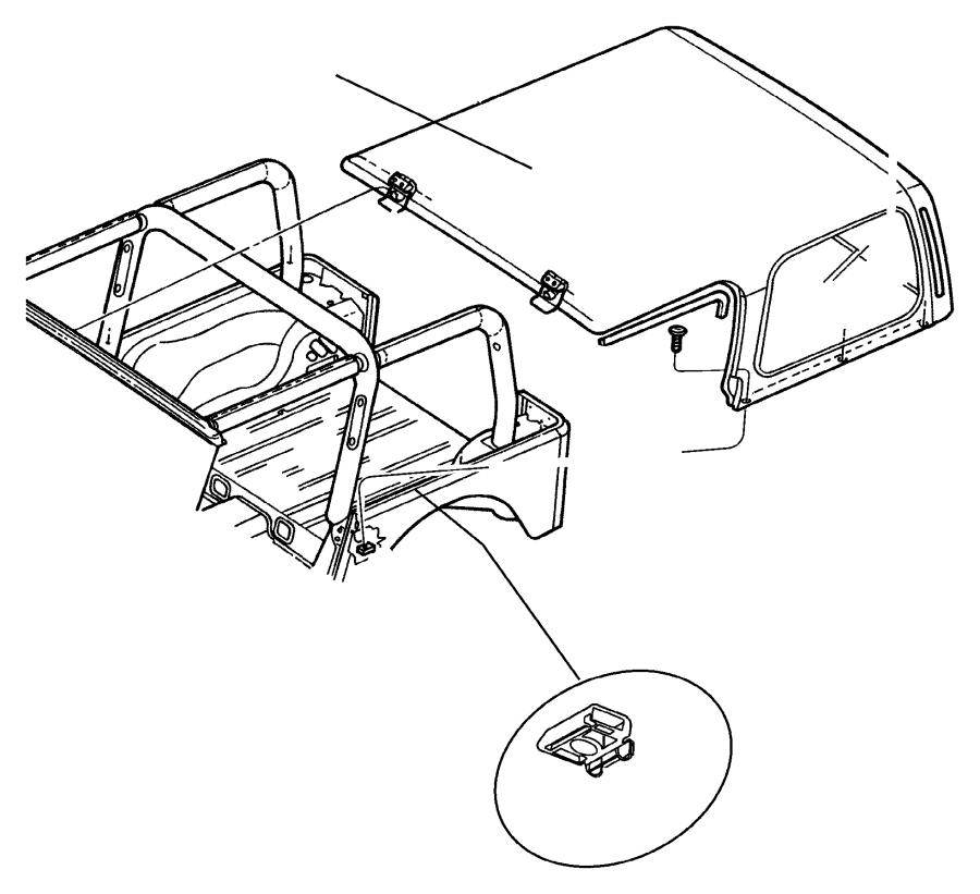 jeep wrangler nut  longitudinal