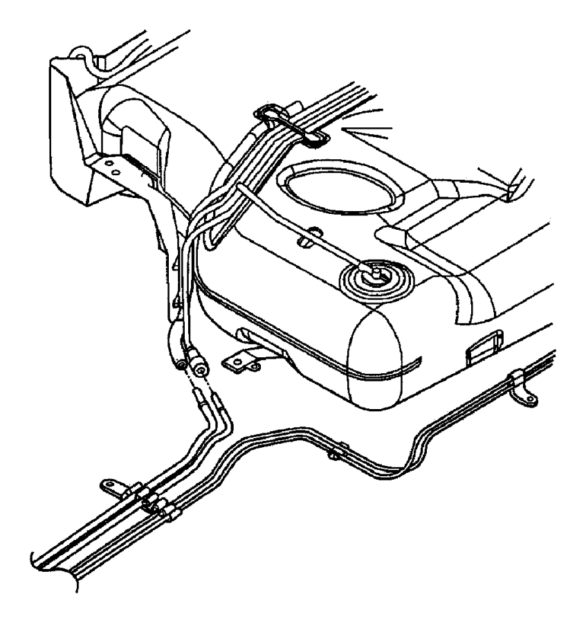 2002 chrysler concorde clip  fuel line  fuel  brake bundle  emissions  mexico  leaded