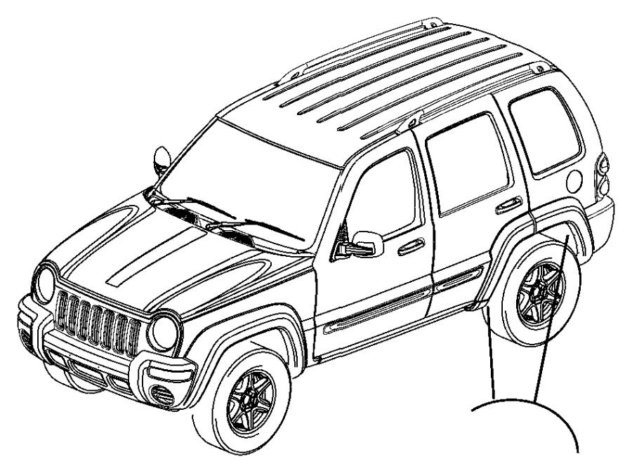 2003 jeep liberty applique  sill  right  color   no
