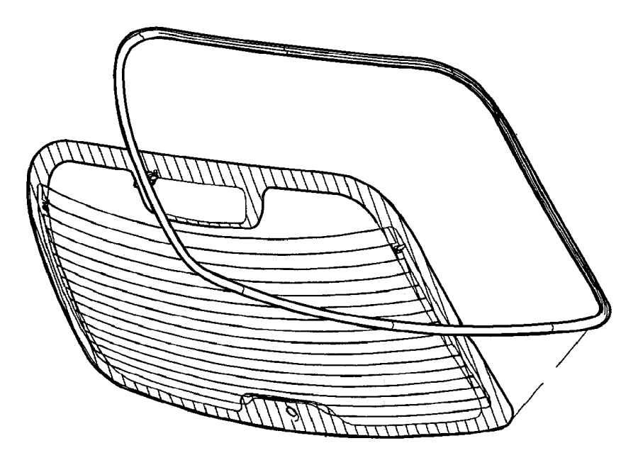 2001 chrysler pt cruiser grommet  glass  wiper motor and