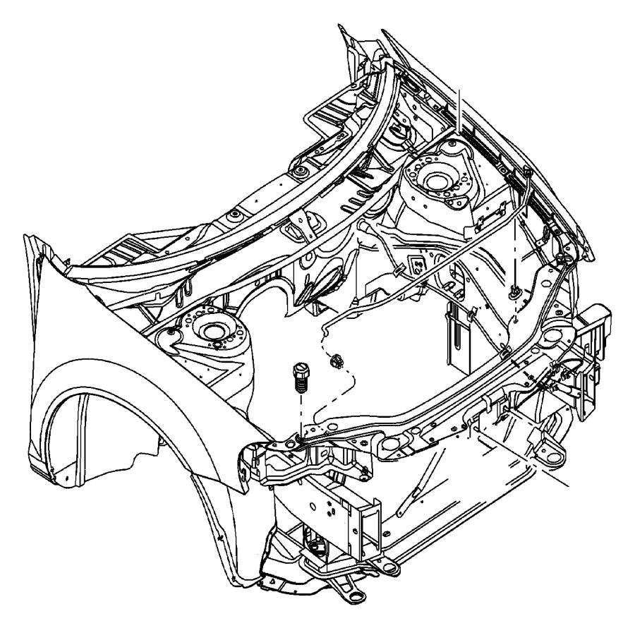Dodge       Dakota    Clip Cable     hood    latch    release       Hood    latch