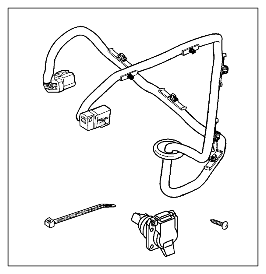 Dodge Ram 1500 Wiring Kit Trailer Tow 7 Way