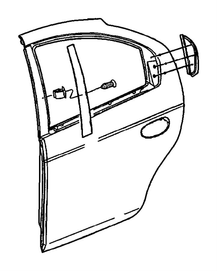 2005 dodge neon applique  right  rear door  color