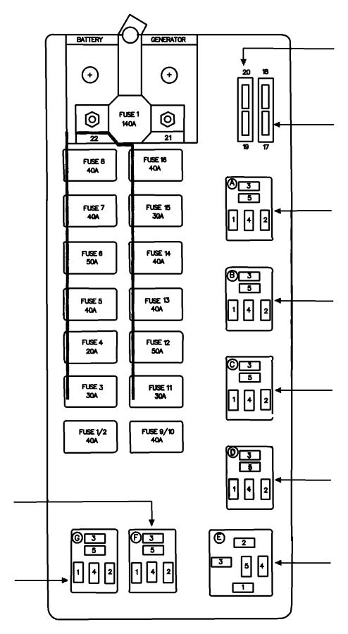 2007 dodge ram 1500 cartridge  fuseable link  20 amp  blue  power distribution center  fuse