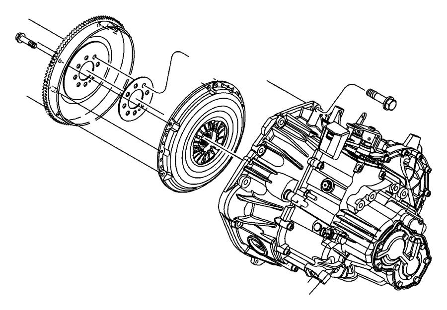 06101054 Chrysler Bolt And Washer Alternator Bracket