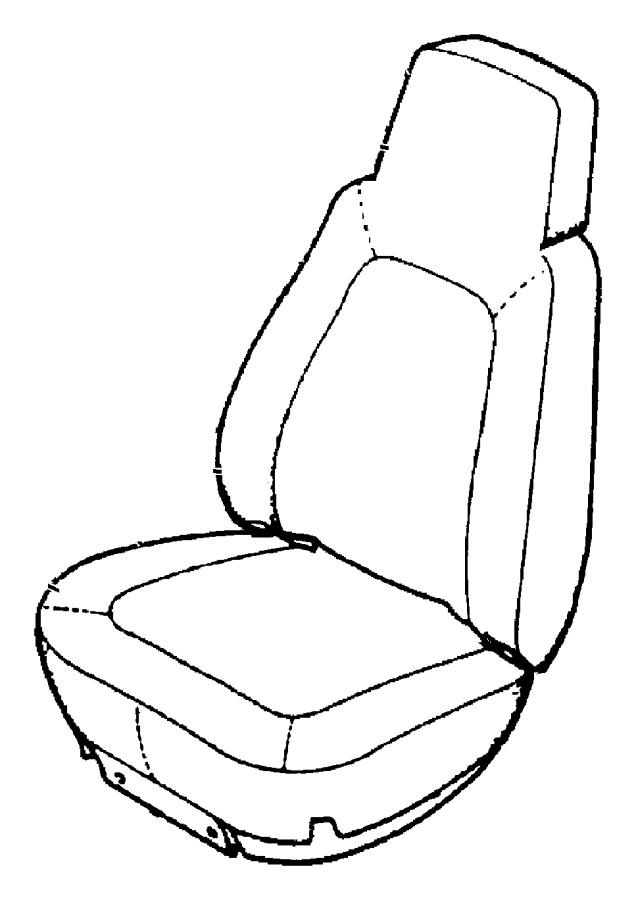 2004 jeep grand cherokee foam  left  seat cushion  trim