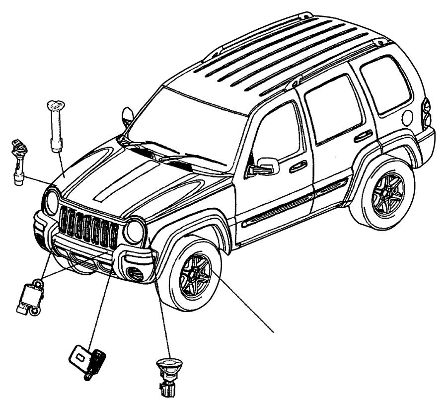 Jeep Liberty Sensor. Air Bag. Genmultistageair
