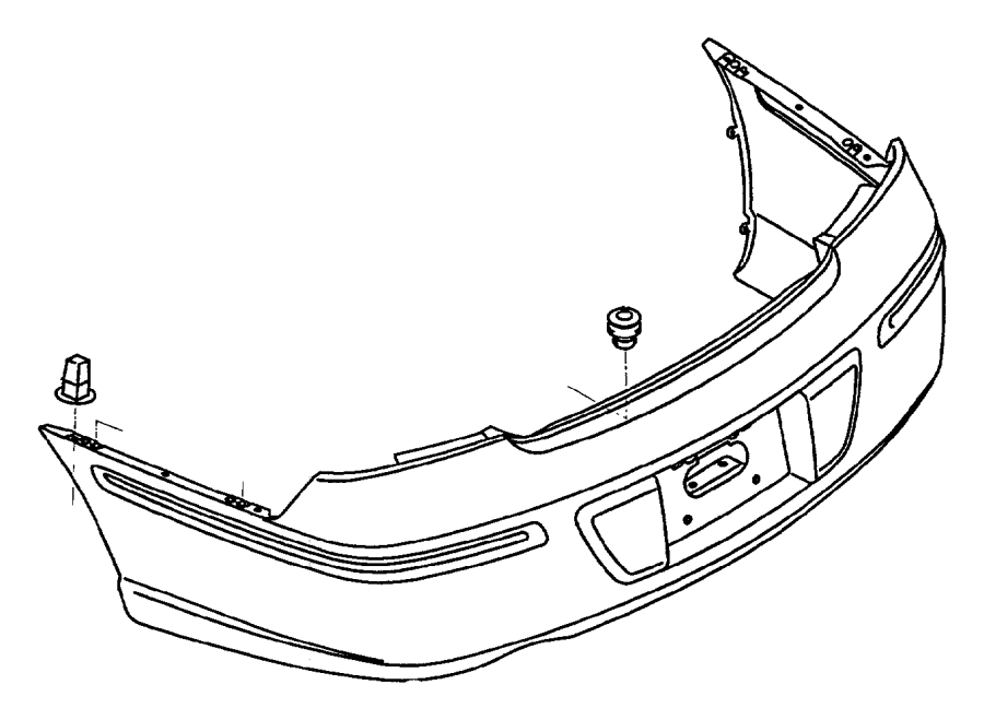jeep grand cherokee grommet  front and rear bumper