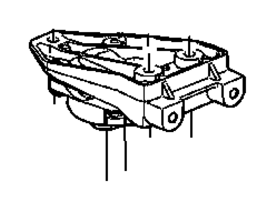 2006 Dodge Charger Mount Transmission 04578063ag