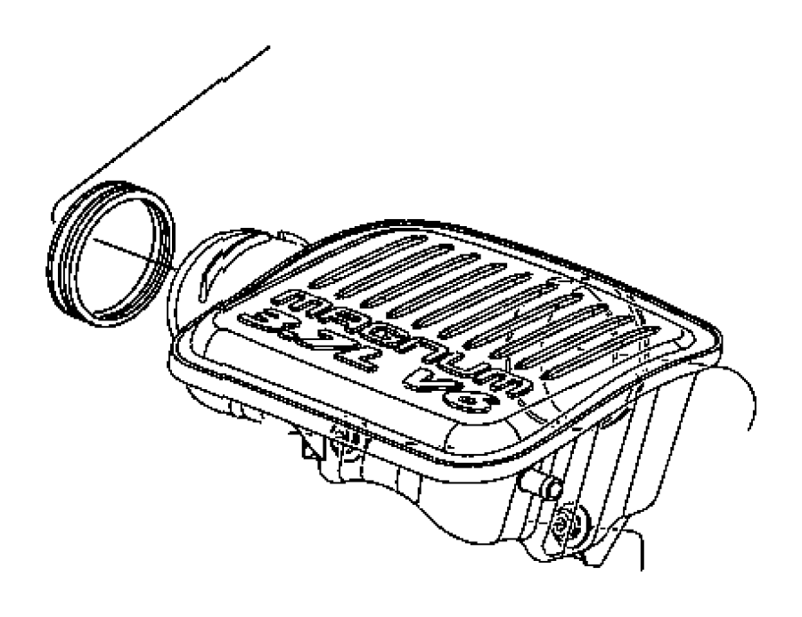 dodge caliber resonator  air cleaner  evaevd  compoants