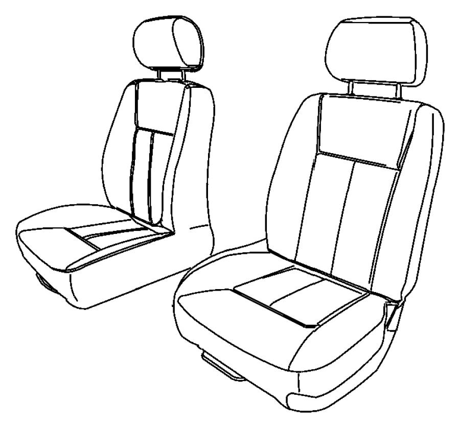 2005 dodge dakota cover  right  front seat cushion   d5
