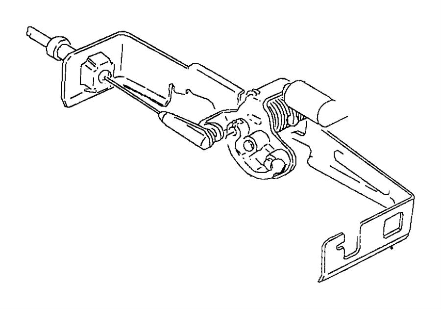 1999 dodge cable  throttle valve