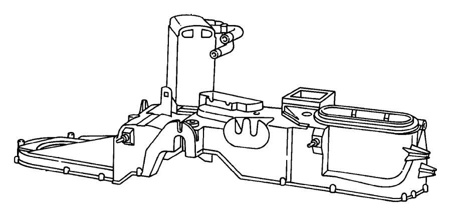 2000 Dodge Ram 1500 Actuator  Heater  Vent  Defrost
