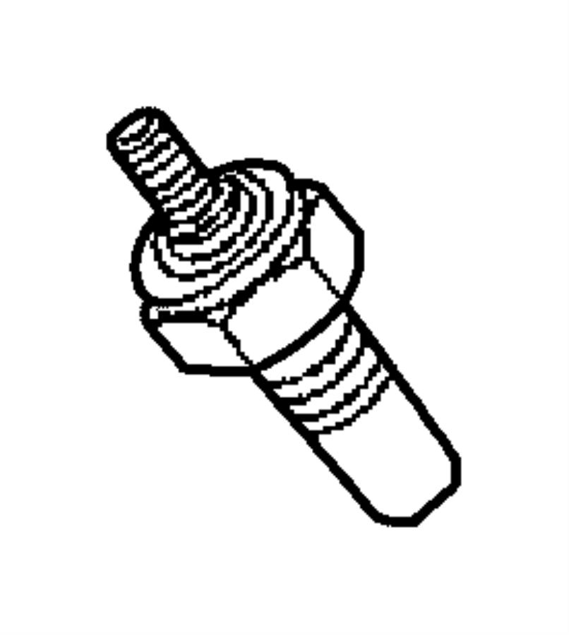 2007 Chrysler Pt Cruiser Sensor Coolant Temperature