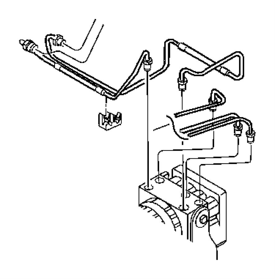 1998 jeep wrangler hose  brake  secondary  proportioning