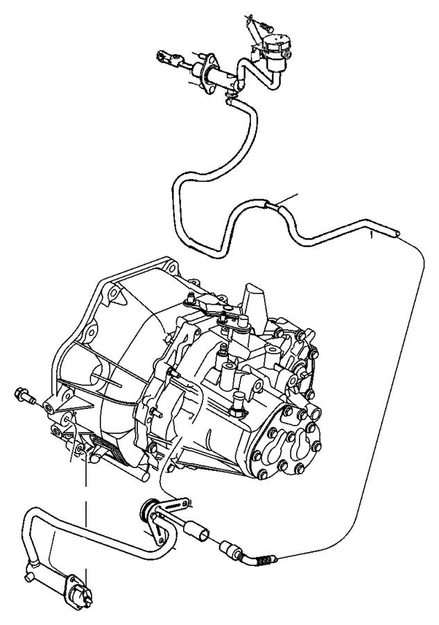 2013 Dodge Dart Actuator  Hydraulic Clutch