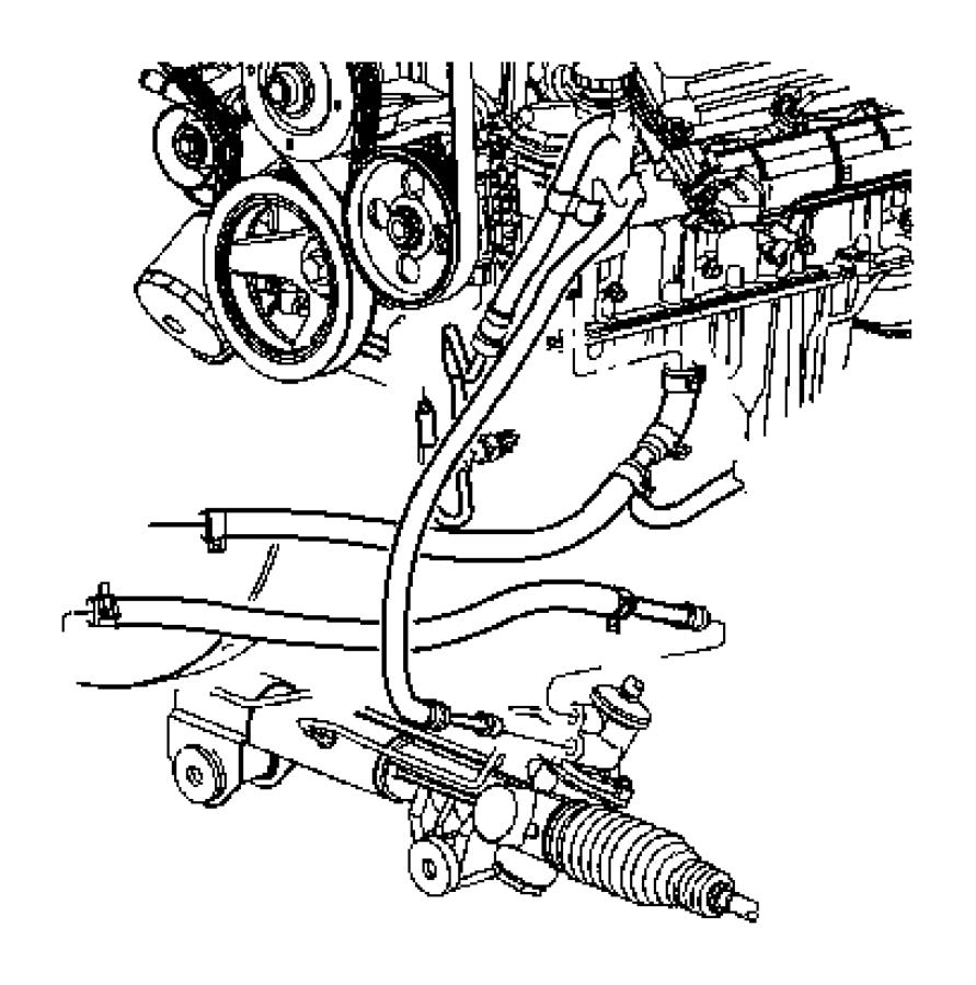 Dodge Ram 2500 Hose  Power Steering Pressure  Hydroboost