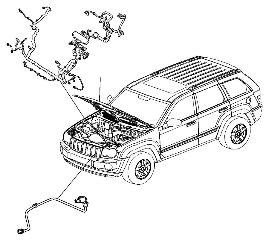 Jeep Grand Cherokee Harness  Resistor  Wiring  Jumper