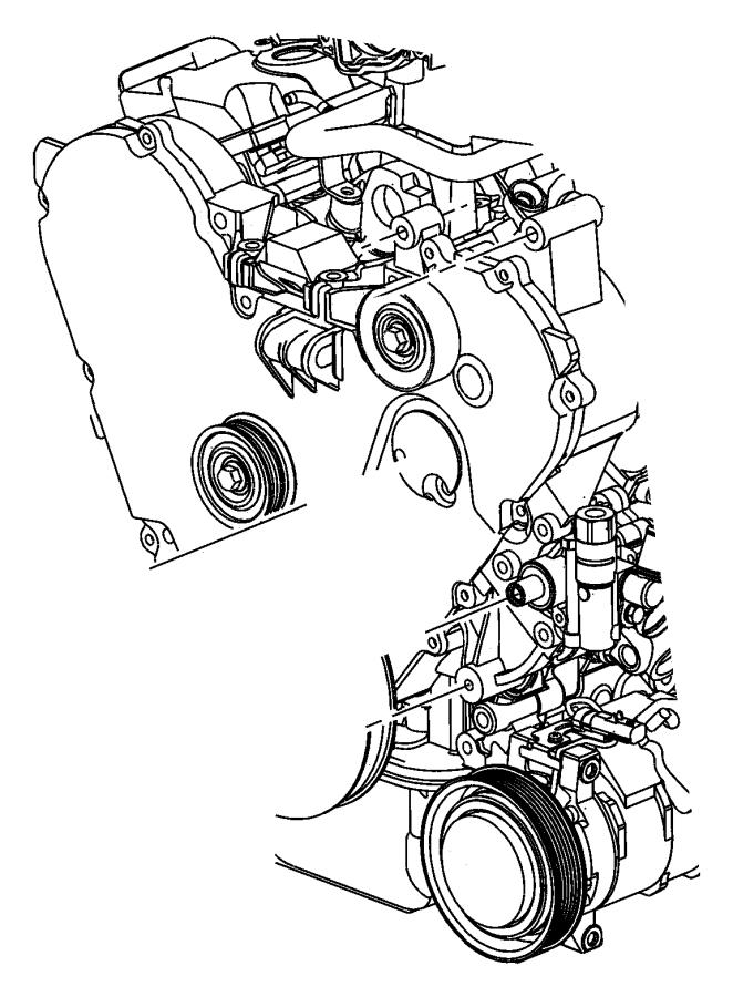 2005 chrysler town  u0026 country pulley  power steering pump