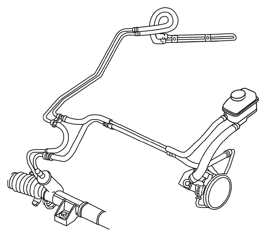 2000 Chrysler Cirrus Reservoir  Power Steering Pump  With