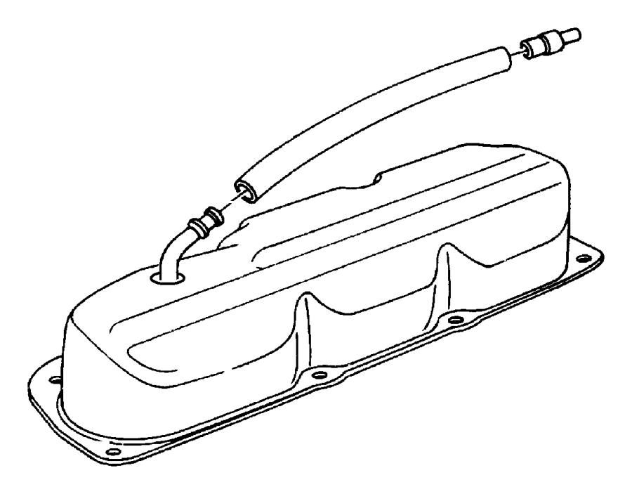 dodge grand caravan hose  pcv valve to intake manifold  cranckcase  egm  egl