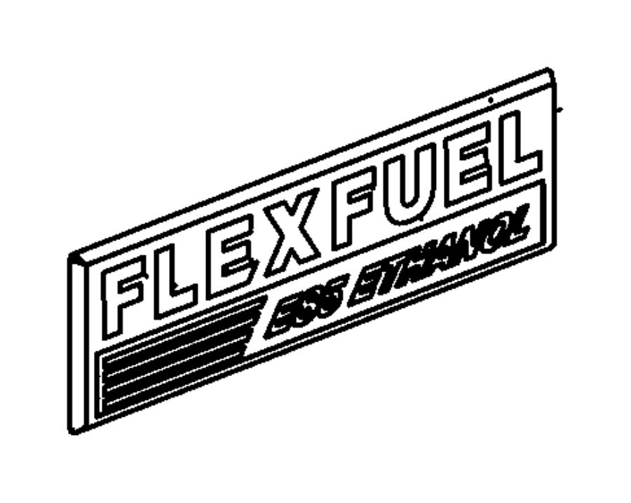 55372784aa chrysler nameplate flex fuel e85 ethanol vehicle xkn badge factory chrysler. Black Bedroom Furniture Sets. Home Design Ideas