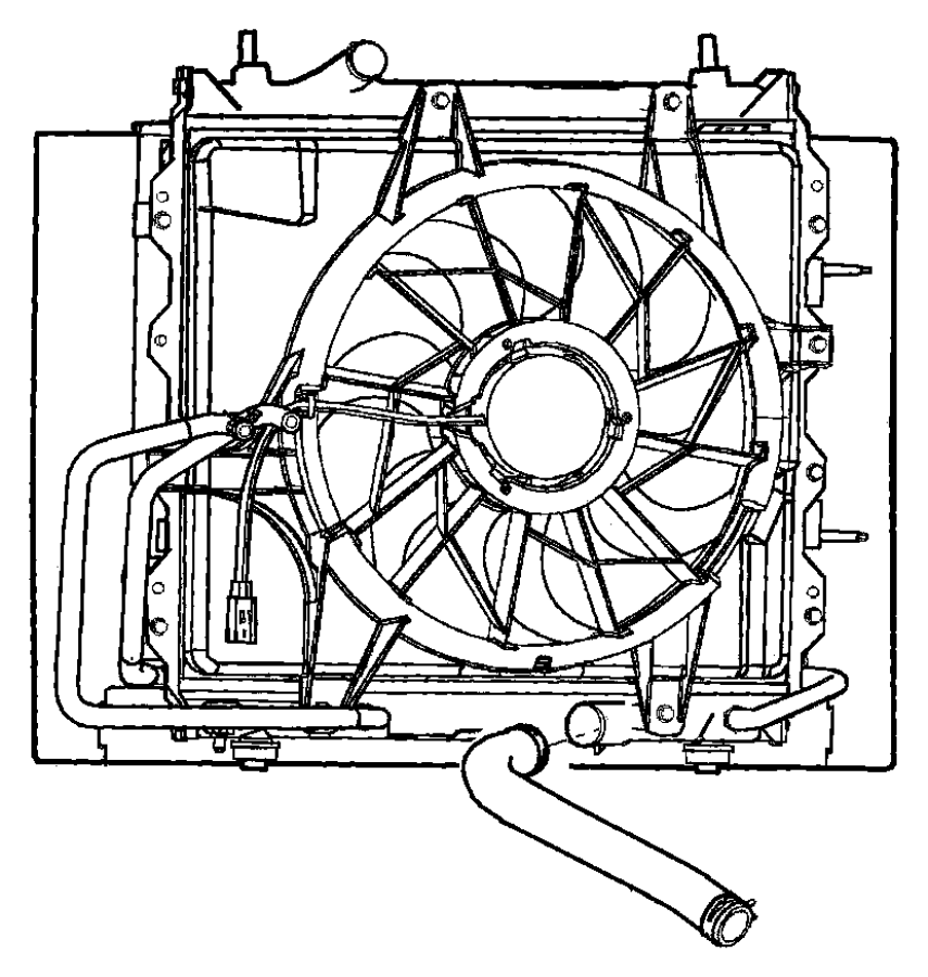 2003 Chrysler Hose  Intercooler To Throttle Body
